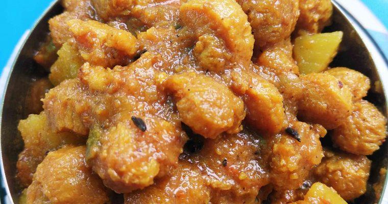 Spicy Soya Chunks Curry – Easy soya nuggets gravy